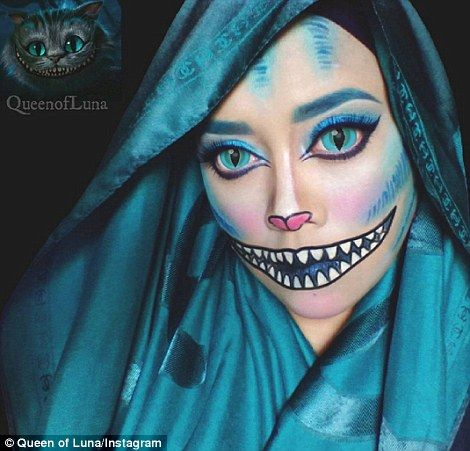 Cheshire Cat:With her Cheshire cat look, Saraswati used an app to edit her eyes and an impressive amount of make up and face paint to complete the rest of the look, including the cat's signature toothy grin