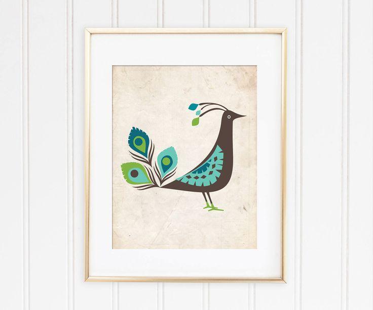 Un favorito personal de mi tienda de Etsy https://www.etsy.com/es/listing/562593381/peacock-printable-art-for-nursery-decor