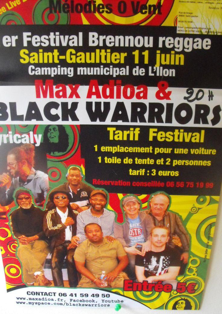 Festival reggae, Saint-Gaultier, Camping de l'Ilon, Rue de l'image, Samedi 11 Juin 2016, 20h00 > 23h30