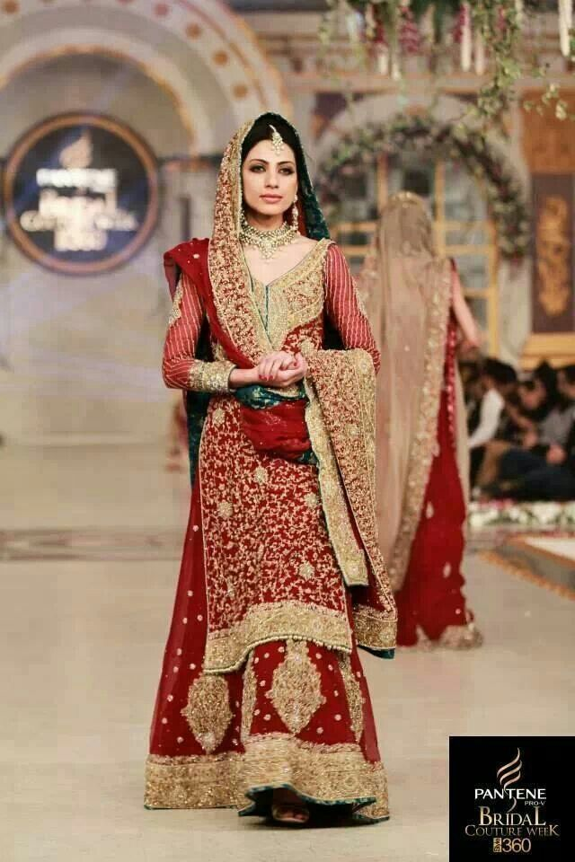 Pakistani Indian Bridal Wedding Dresses 2015 2016 Bridal Gowns Collection
