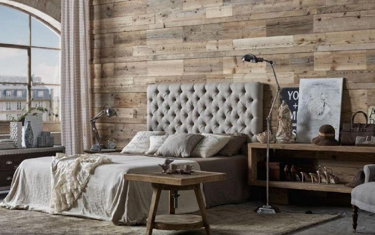 Cabecero de cama tapizado muy mullido