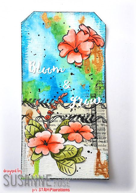 Susanne Rose Designs: Mixed Media Tag with STAMPlorations