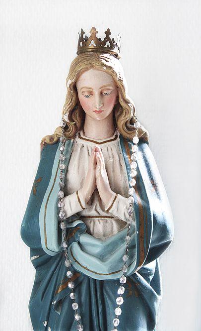 Mother Mary ( Catholic / Saint / Statue / Faith / Rosery )