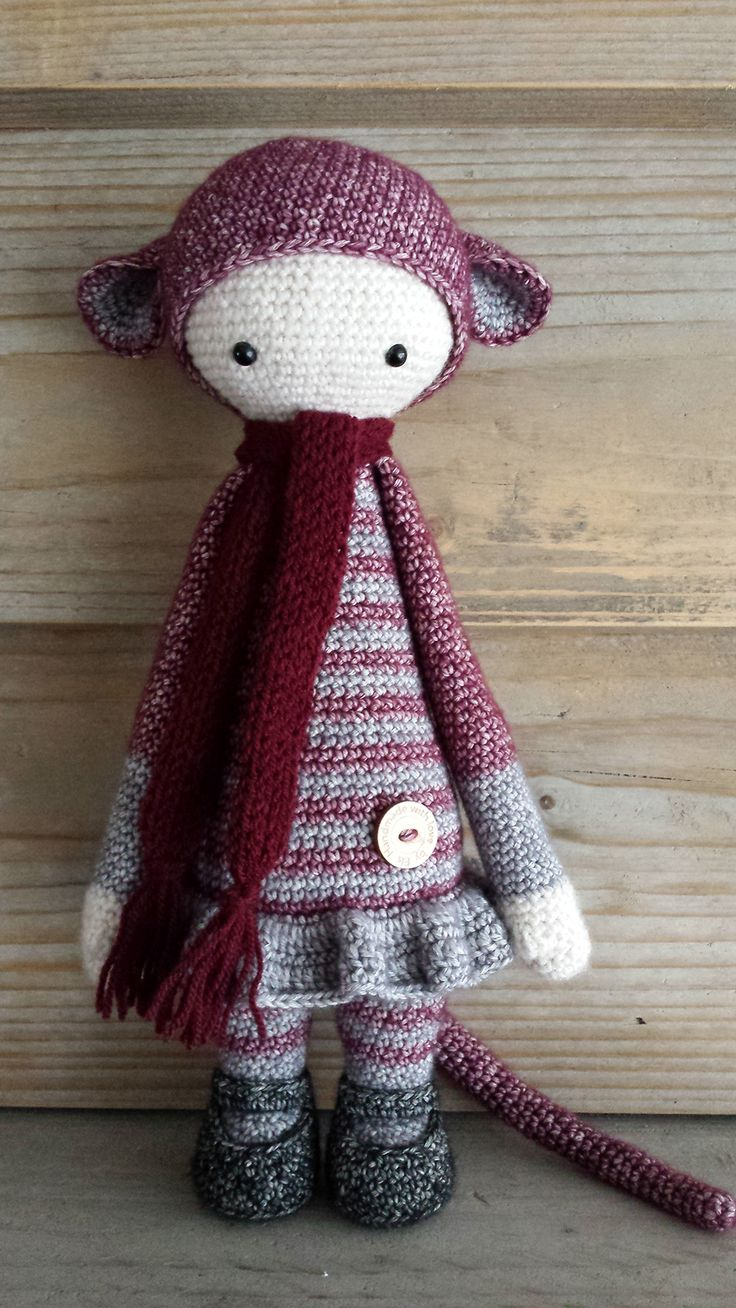 RADA the rat made ny Els van Sch. / crochet pattern by lalylala