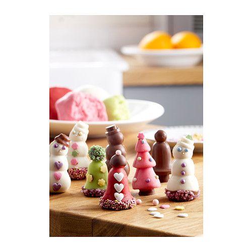 СНЁКУЛ Формочка для шоколада/марципана IKEA Благодаря формочкам легко сделать забавный шоколадный колокольчик или марципановую елочку.
