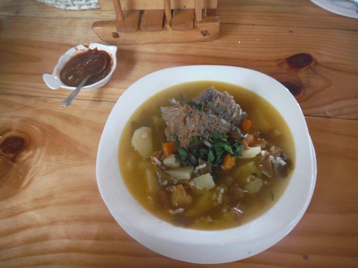Cazuela de cordero y cochaiyuyo (lamb and seaweed stew)