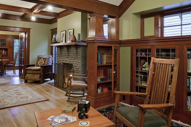 Craftsman living room remodel by Craftsman Design & Renovation