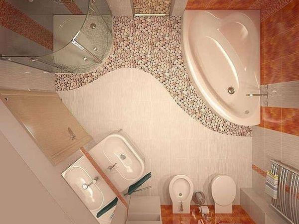 угловая ванная унитаз с иннсталяцией