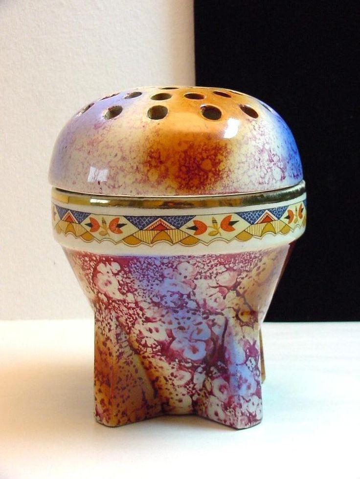 Art deco potpourri vase or flower frog vase Belgium