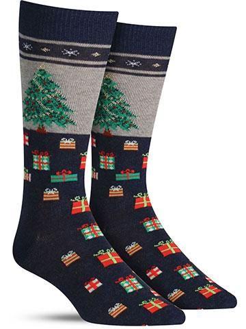 Christmas Tree Non Skid Socks | Mens