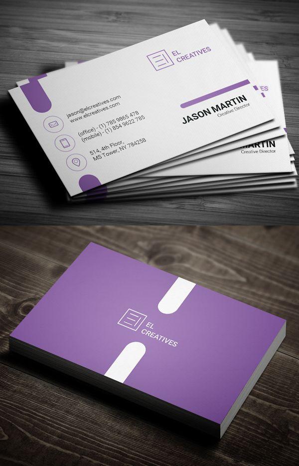 Tarjeta de visita creativa púrpura