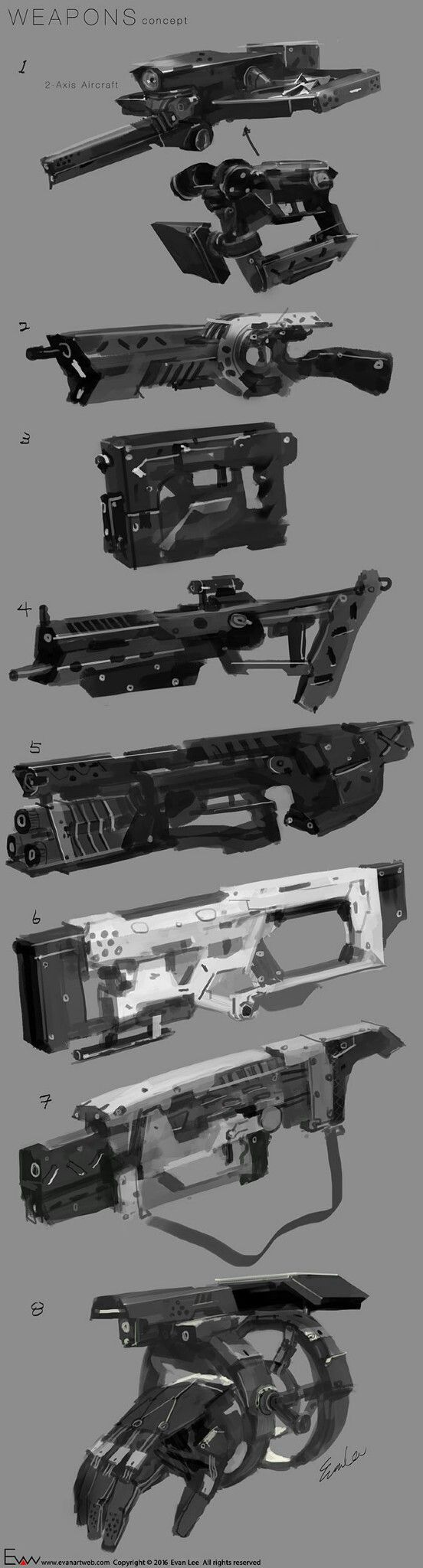 Just some of my recent ideas of weapon