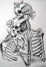 Skeleton couple tattoo