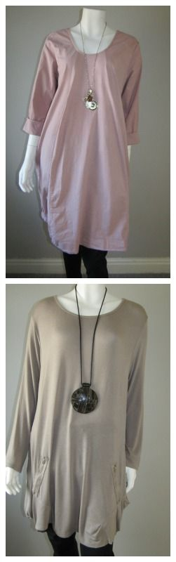 Stunning rose baggy pocket dress £35.99 and zipped pocket tunic £34.99 new in at love lagenlook clothing.com