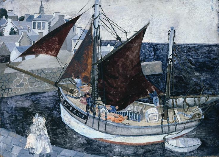 Christopher Wood, 'Boat in Harbour, Brittany' 1929