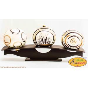 JUEGO 3 esferas, diseños en círculos..