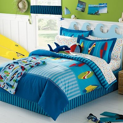 surfer surfboard themed full comforter set piece bed in a bag
