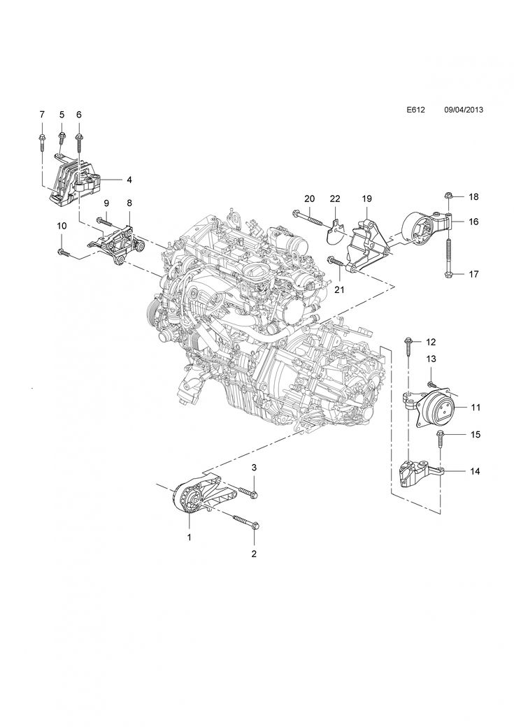 Engine Diagram Vauxhall Insignia Used