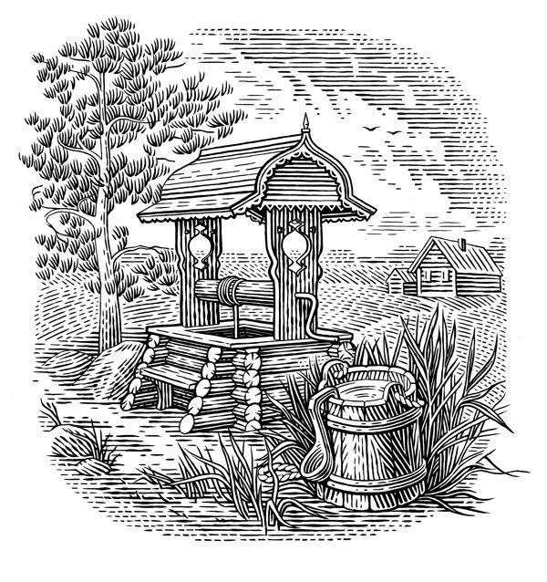 Label illustrations on Behance