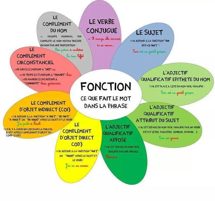 French grammar flower: la fleur de la gramaire