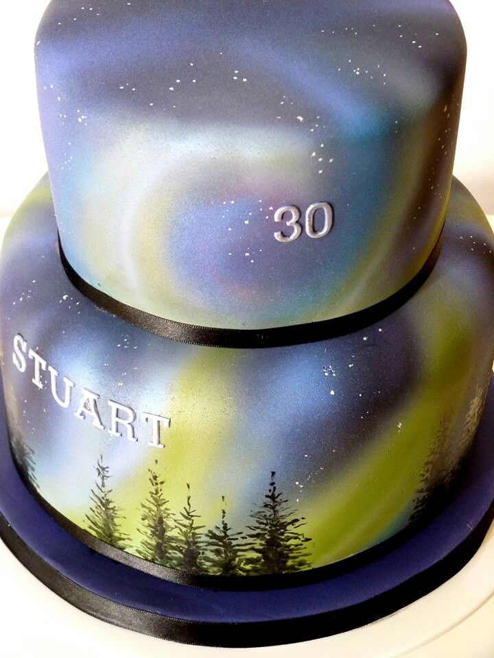 Northern lights cake.