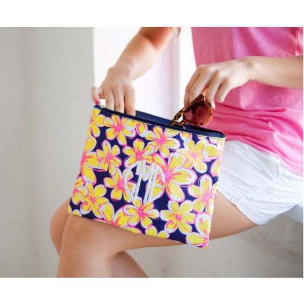 Monogram Summer Floral Bag Monogram Cosmetics Bag Monogram Accessory... ($16) ❤ liked on Polyvore featuring beauty products, beauty accessories, bags & cases, red, swimwear, women's clothing, travel toiletry case, travel kit, wash bag and cosmetic bags