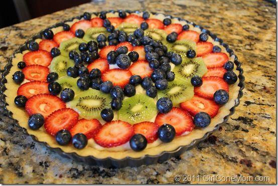 The Best Summertime Dessert: Easy Fruit Tart #Recipe - Girl Gone Mom
