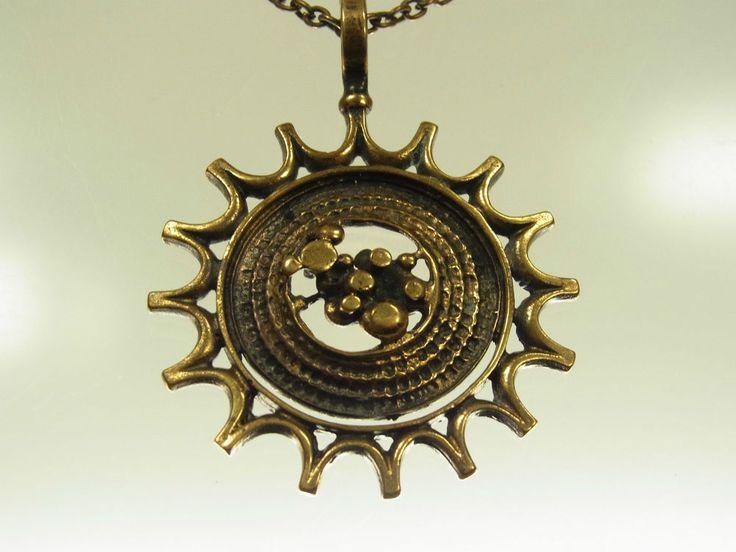 Jorma Laine, vintage modernist bronze pendant, 1970's. #Finland