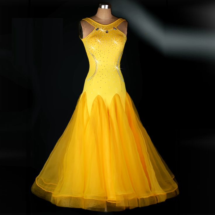 Find More Information about Yellow Professional Ballroom Dance Costume Sleeveless Performance Dancing Dress Expansion Bottom One piece Dress 5 Sizes M053,High Quality dress g,China dress snake Suppliers, Cheap dress crinoline from Love to dance on Aliexpress.com