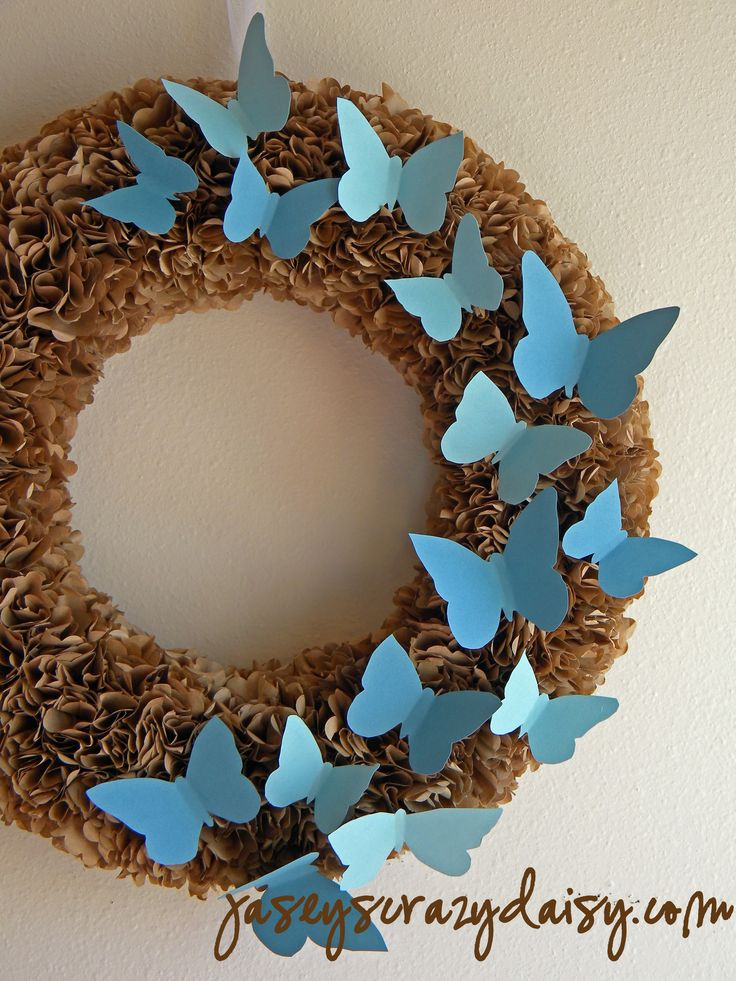 paper bag wreath how to