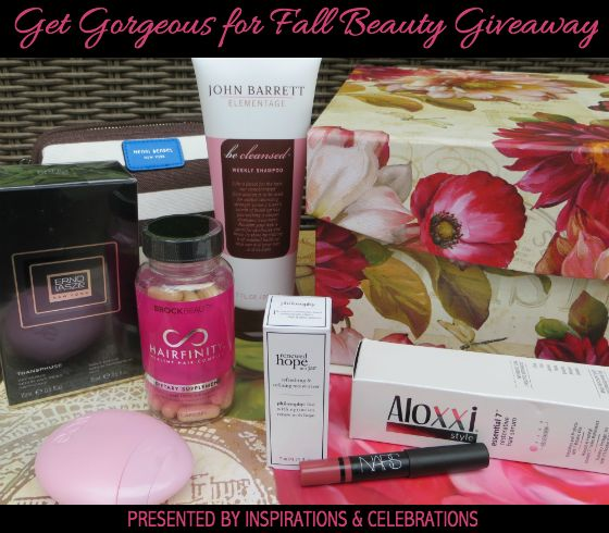 "#Win this deluxe $350 prize package by entering the ""Get Gorgeous For Fall Beauty #Giveaway""!"