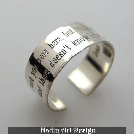Individuelle Gravur Silberring / Geschenk / Unisex von NadinArtDesign auf DaWanda.com