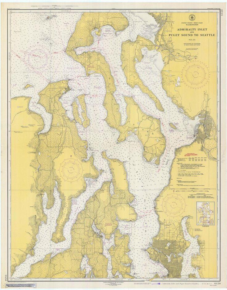38 best Pacific Northwest Alaska Nautical Maps images on