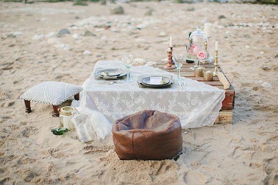 Bohemian beach wedding inspiration