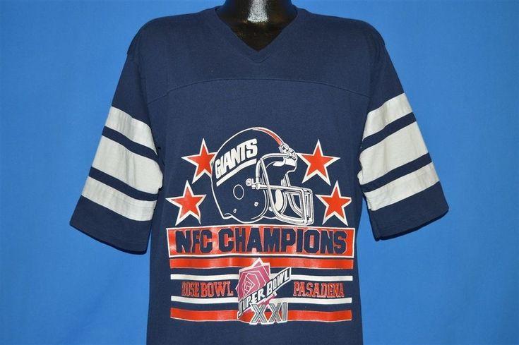 vintage 80s NEW YORK GIANTS SUPER BOWL XXI LOGO 7 JERSEY t-shirt FOOTBALL L / XL #Logo7 #NewYorkGiants
