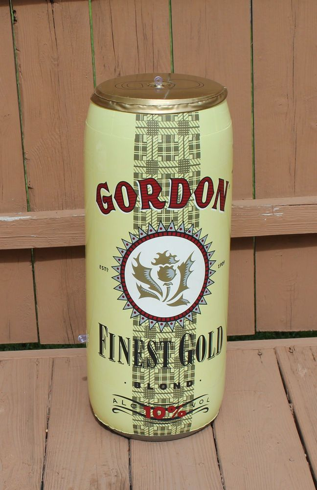 Gordon Finest Gold Blond German Inflatable Blow-Up Beer Can Brewery
