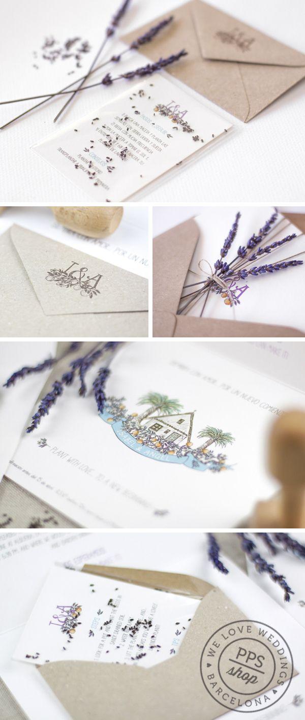 Boda personalizada PPStudio para Isabel & Angel  http://www.projectpartystudio.com/bodas-personalizadas-2/isabel-angel.html #boda #invitacion #wedding #stationery #ppstudio #handmade #stamp #sello #lavanda