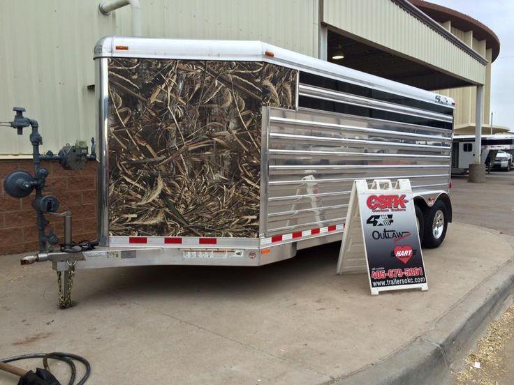 Camo 4star pen trailer at oklahoma youth expo star