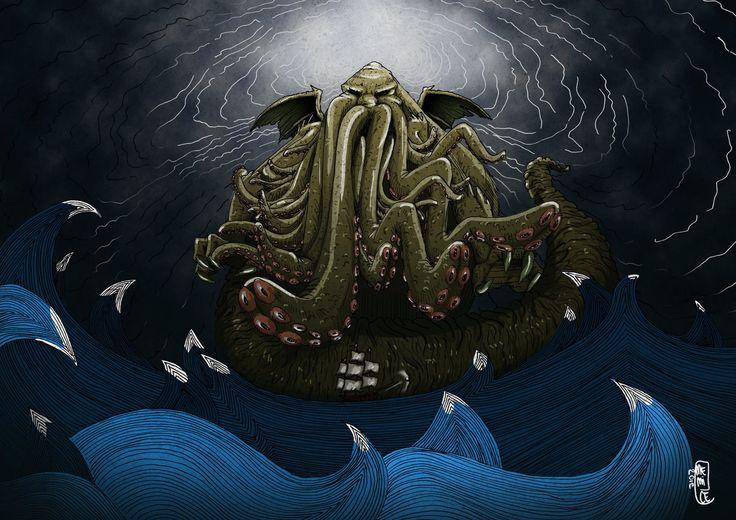 Marianna MemiCe Celentano - Cthulhu illustration - #vaffancthulhu #MassoneriaCreativa - www.massoneriacreativa.com