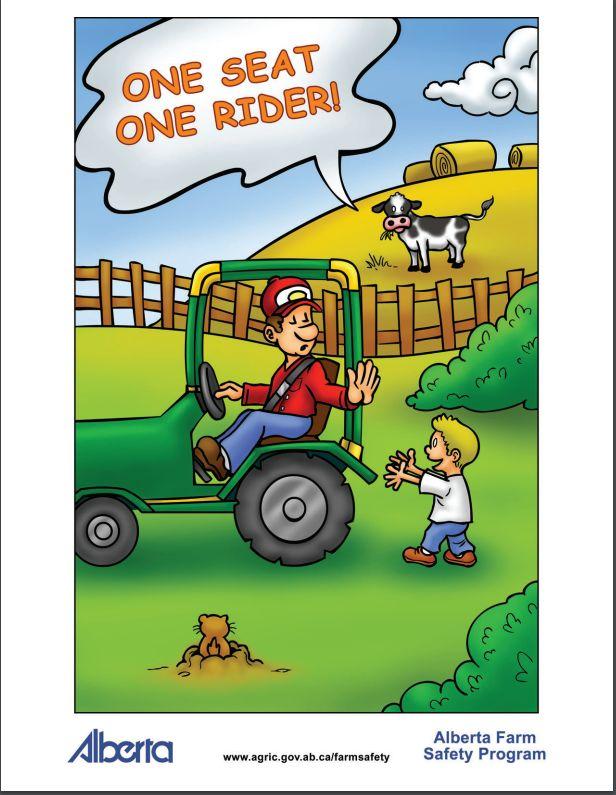 For kids in Alberta, run overs are the leading cause of agriculture-related death. Kids riding as a passenger on equipment (then falling off) is the major cause of the run over deaths