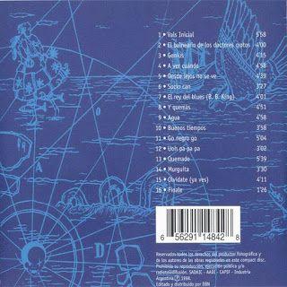 Contratapa de Azul de Los Piojos de 1998