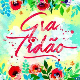 COLEÇÃO | COISAS BOAS - Larissa Grace - Lettering aquarelado GRATIDÃO