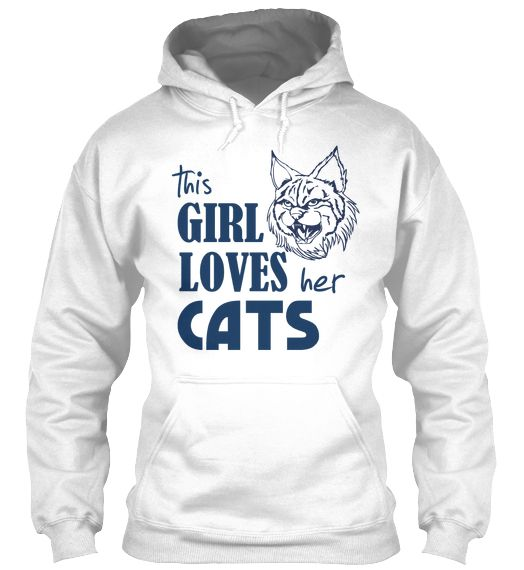 This Girl Loves Her Cats Hoodie.   Geelong supporters, this one is for you!