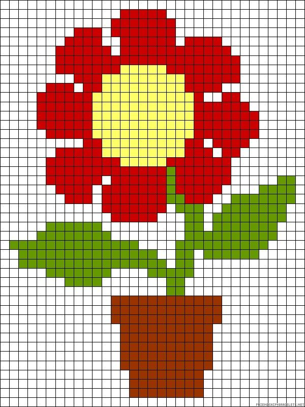 Flower pot Hama pattern