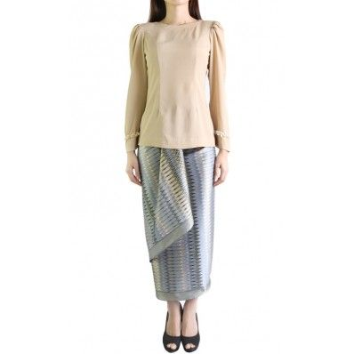 Modern Kurung Set in Beige