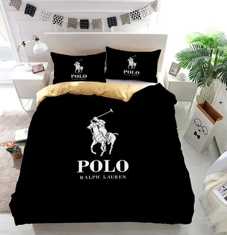 Ralph Lauren Polo Logo Custom Bedding Set Duvet Cover In
