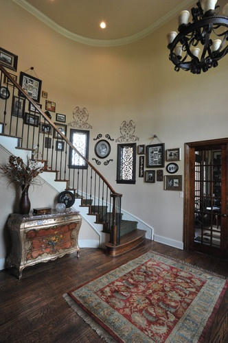 Foyer Picture Hanging Ideas : Best images about curved staircase wall decor on