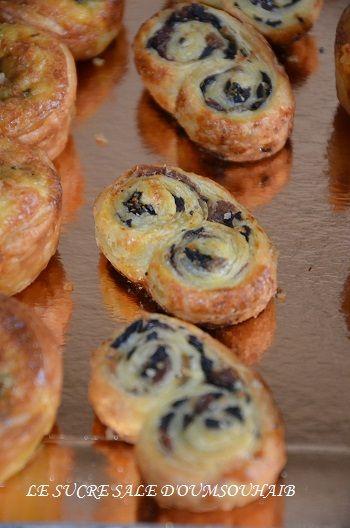 recette facile et rapide palmiers garnis aux 4 olives