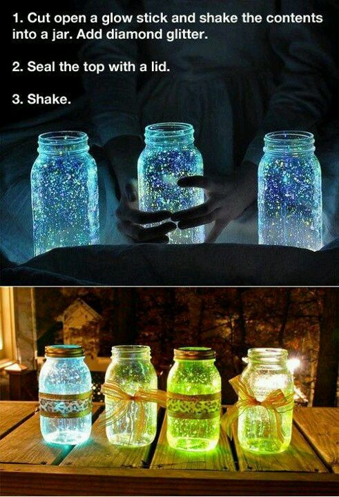 Glow stick in a jar