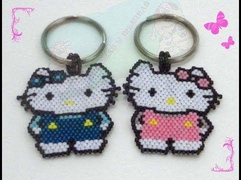 Brick stitch Hello Kitty con delicas - Parte 1 de 2